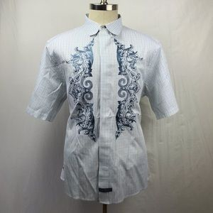 English laundry XXL embroidered S/S Button Down